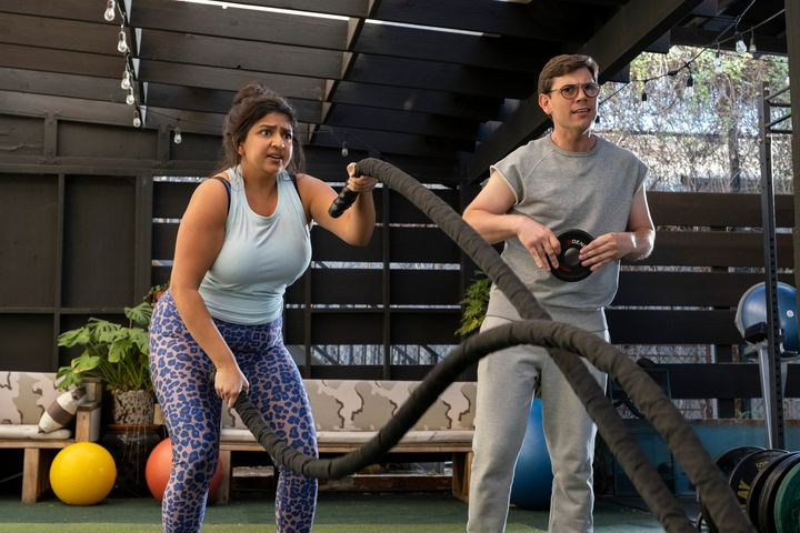 "Punam Patel (left) and Ryan O'Connell in Netflix's ""Special."""