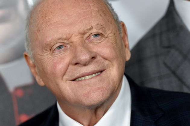 Anthony Hopkins at the premiere of The Two Popes in