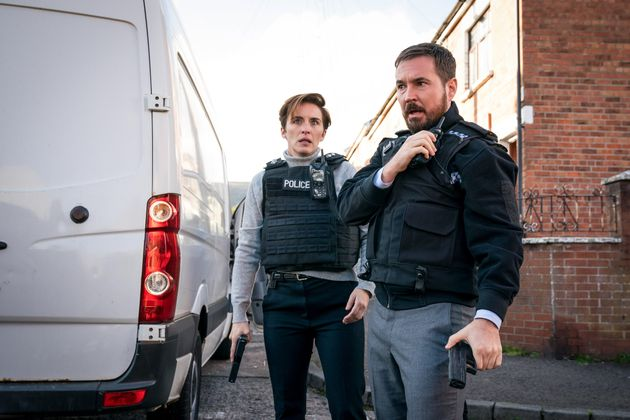 Martin with Line Of Duty co-star Vicky McClure, who plays DI Kate