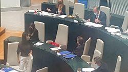 Cs y Vox abandonan el pleno de Cibeles en la votación sobre las amenazas a