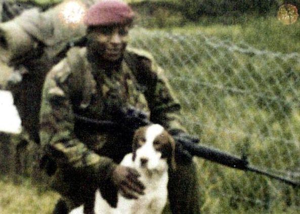 Christopher Alder in his paratrooper's