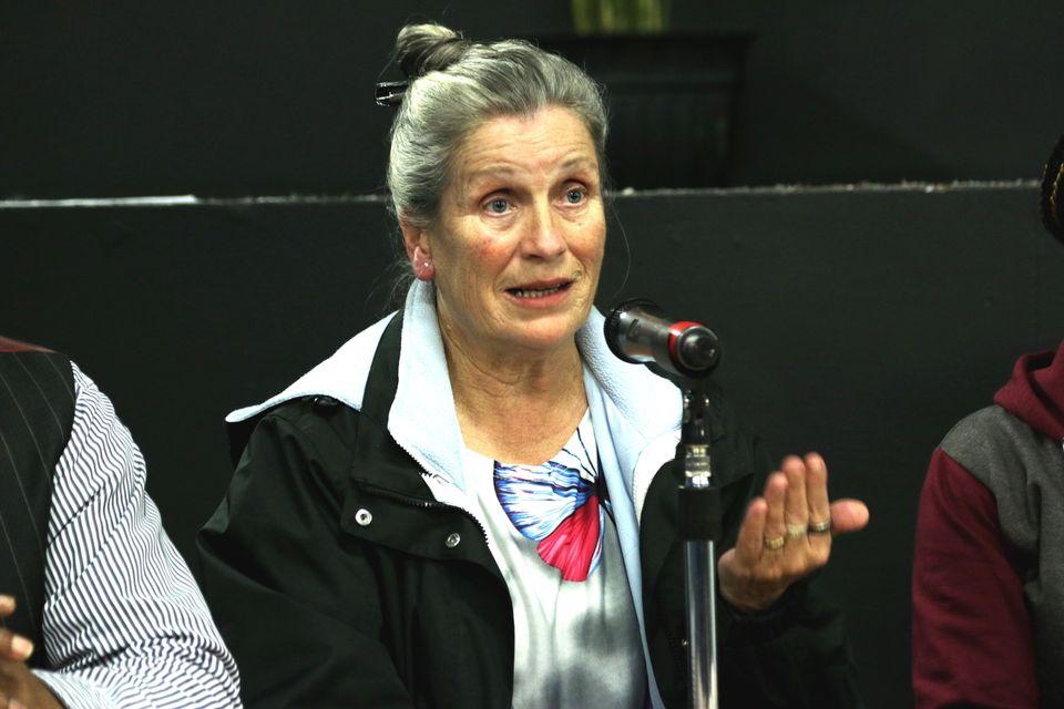 Jan speaking at a film screening in