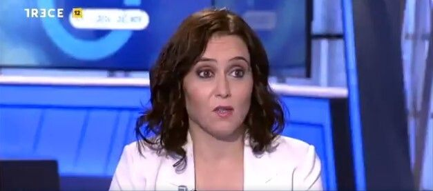 Díaz Ayuso, en plena entrevista en 'El
