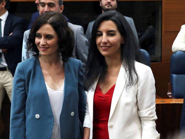 Isabel Díaz Ayuso (PP) y Rocío Monasterio