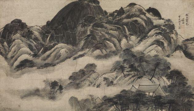 정선 필 인왕제색도, 국보 제216호 Inwang jesaekdo (Scene of Inwangsan Mountain After Rain) by Jeong Seon, National...