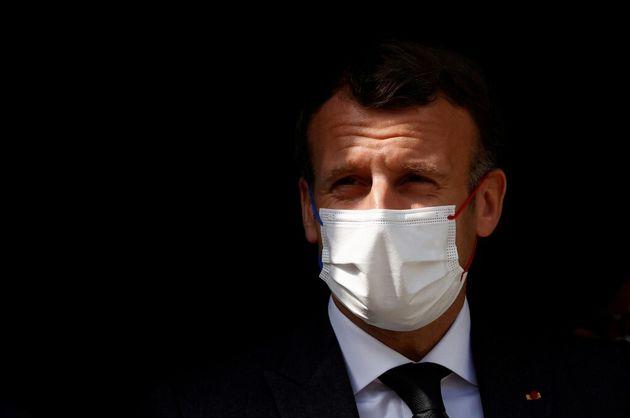 Emmanuel Macron en déplacement à Reims le 14 avril