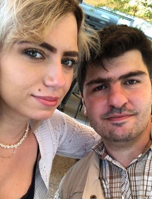 Arietta with her partner Matej.
