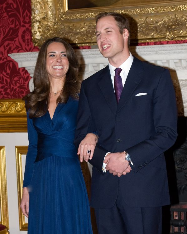 The future Duke and Duchess of Cambridge officially announce their engagement in November 2010. William proposed during a tri