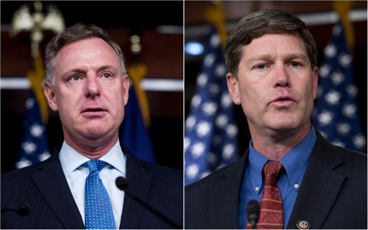 Democratic Reps. Scott Peters (Calif.), left, and Ron Kind (Wis.), sit on committees that regulate the pharmaceutical industr