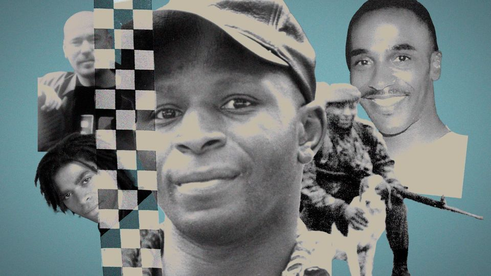 British men who have died in police custody. Pictured (from left) Lloyd Butler, Sean Rigg, Christopher...