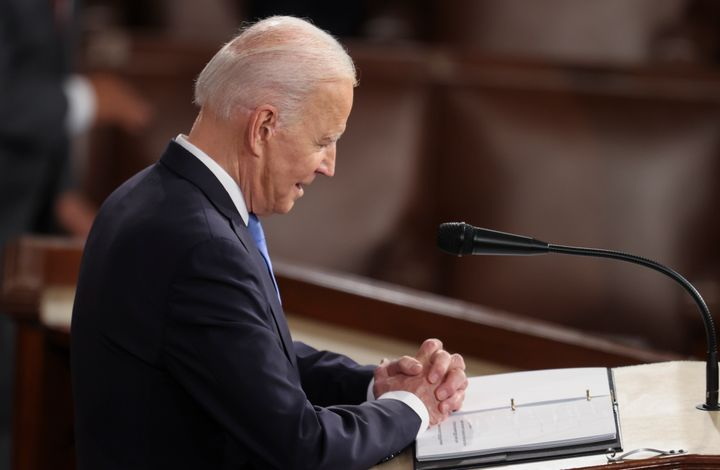 President Joe Biden's address Wednesday night before a joint session of Congress contained many echoes of his 2020 presidenti