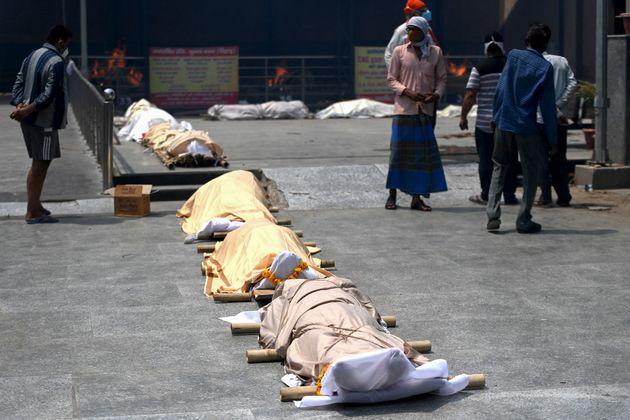 Ce jeudi 29 avril, l'Inde a enregistré un nombre record de morts liées au covid-19 sur 24 heures (photo...