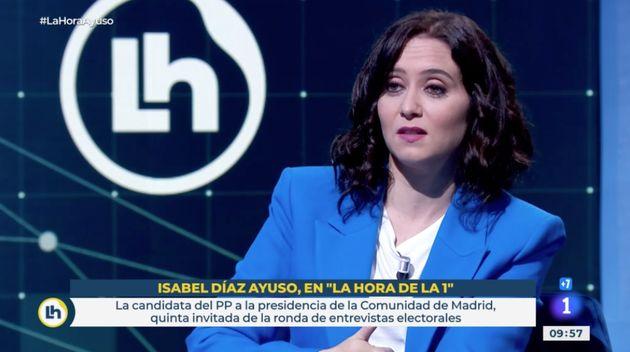 Isabel Díaz Ayuso en 'La Hora de La