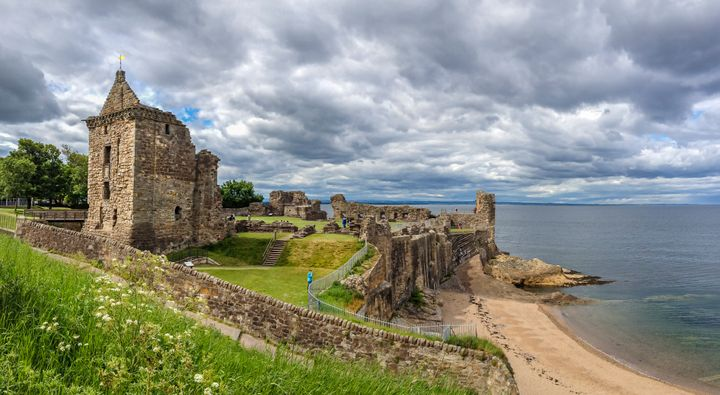 & nbsp;  St Andrew's Castle, located on a rocky promontory in St Andrews, Fife, Scotland.  & nbsp;