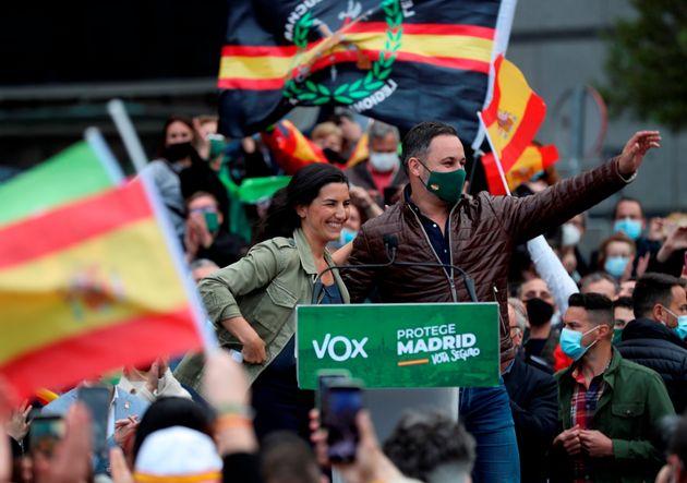 Rocío Monasterio y Santiago Abascal, el pasado 19 de abril en