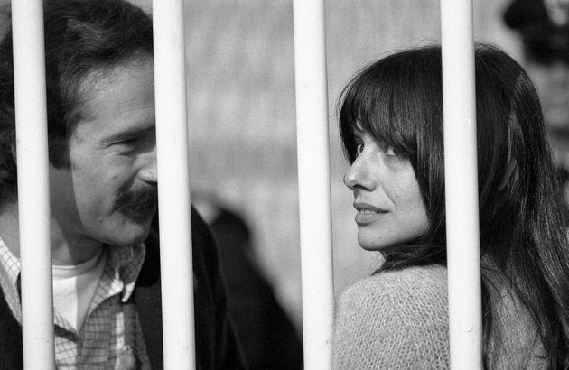 Roma 1982. Proccesso Ado Moro. Nella foto il brigatista Valerio Morucci con Adriana Faranda durante il...