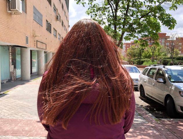 Susana Pérez (nombre ficticio), votante de Vox, este jueves 29 de abril, en