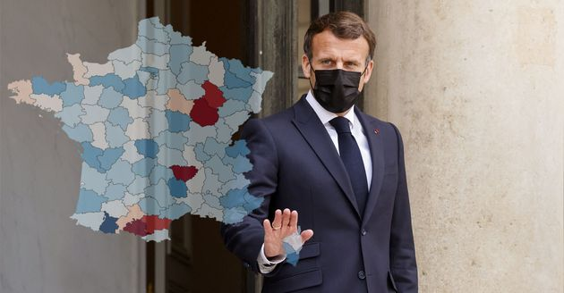 Emmanuel Macron ha presentado un calendario nacional de desconfinación ... a menos que las cifras de Covid-19 ...