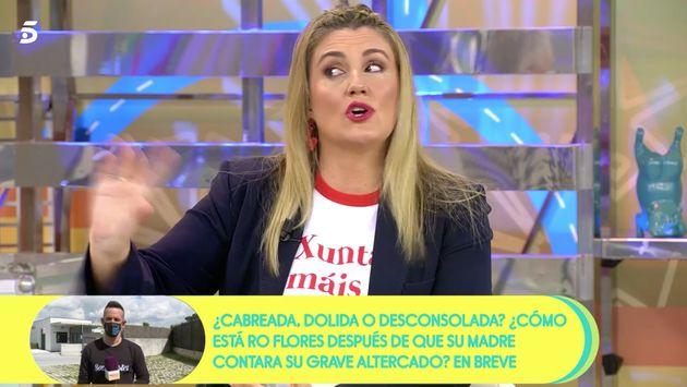 Camiseta de Carlota Corredera en