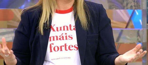 Mensaje de la camiseta de Carlota
