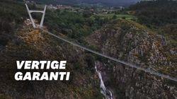 Avec ses 516 mètres de long, ce pont suspendu devient le plus long du