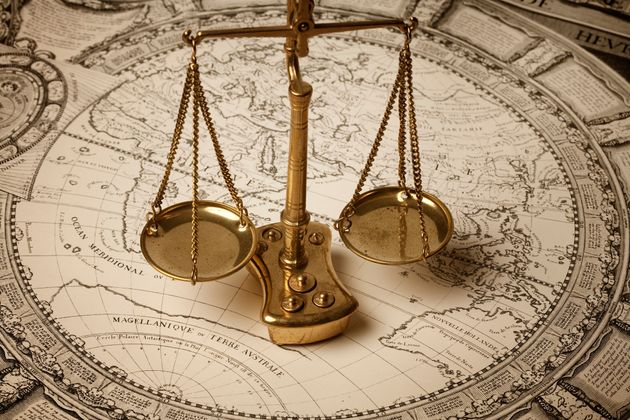 Scale of justice and ancient world
