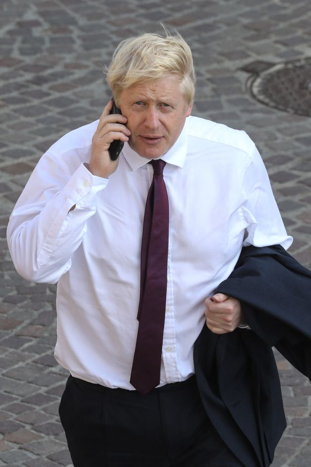 Le Premier ministre britannique Boris Johnson le 25 août 2019 au G7.