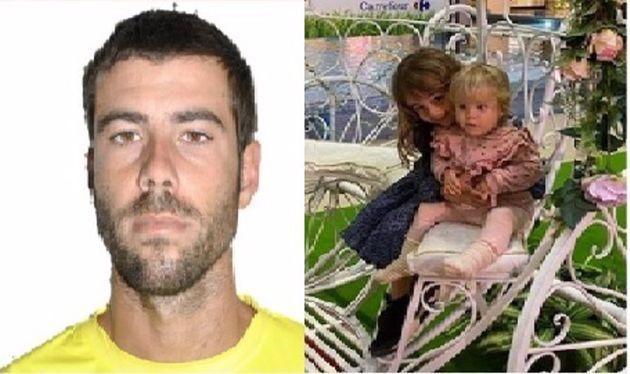 Fotografía del padre y de las dos niñas desaparecidas en