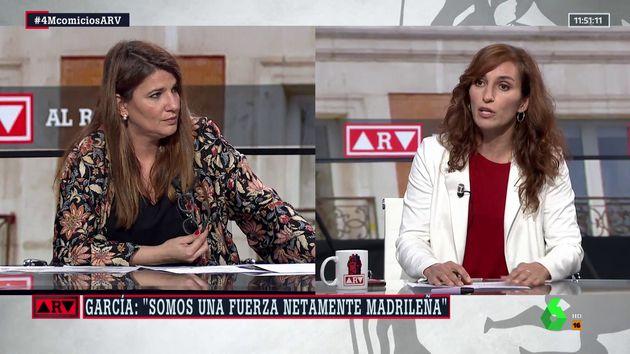 María Claver y Mónica García, en 'Al Rojo Vivo'