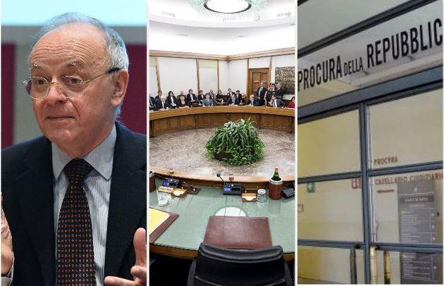 Piercamillo Davigo - il plenum del Csm - l'ingresso della procura di