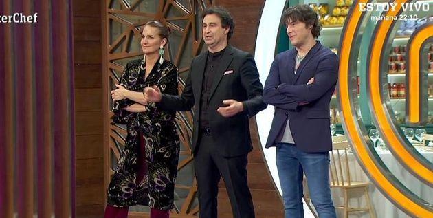 Los jueces Samantha Vallejo-Nágera, Pepe Rodríguez y Jordi Cruz en 'Masterchef