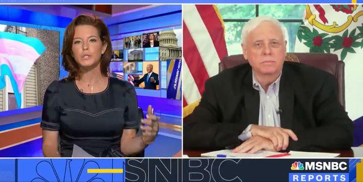 West Virginia Gov. Jim Justice (R) gets grilled by MSNBC anchor Stephanie Ruhl.