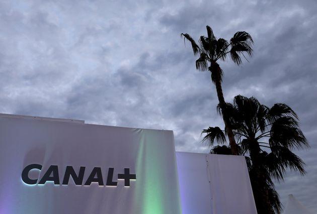 Le logo de Canal+ à Cannes en