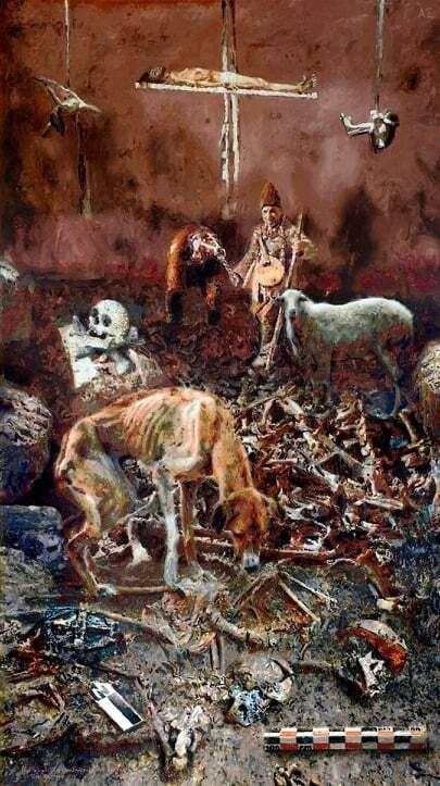 πίνακας του Άγγελου Σπάρταλη με τίτλο: Αναστάση;