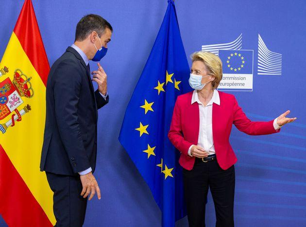 Sánchez y Von der Leyen en una reunión de la