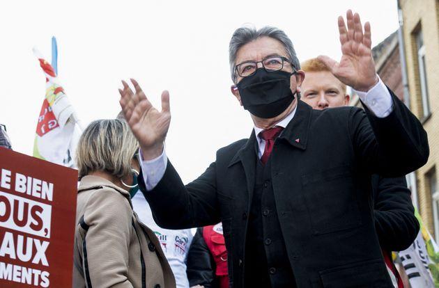 Jean-Luc Mélenchon photographié à Lille samedi 1er