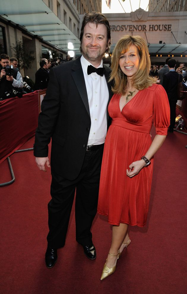 Kate with husband Derek, pictured in