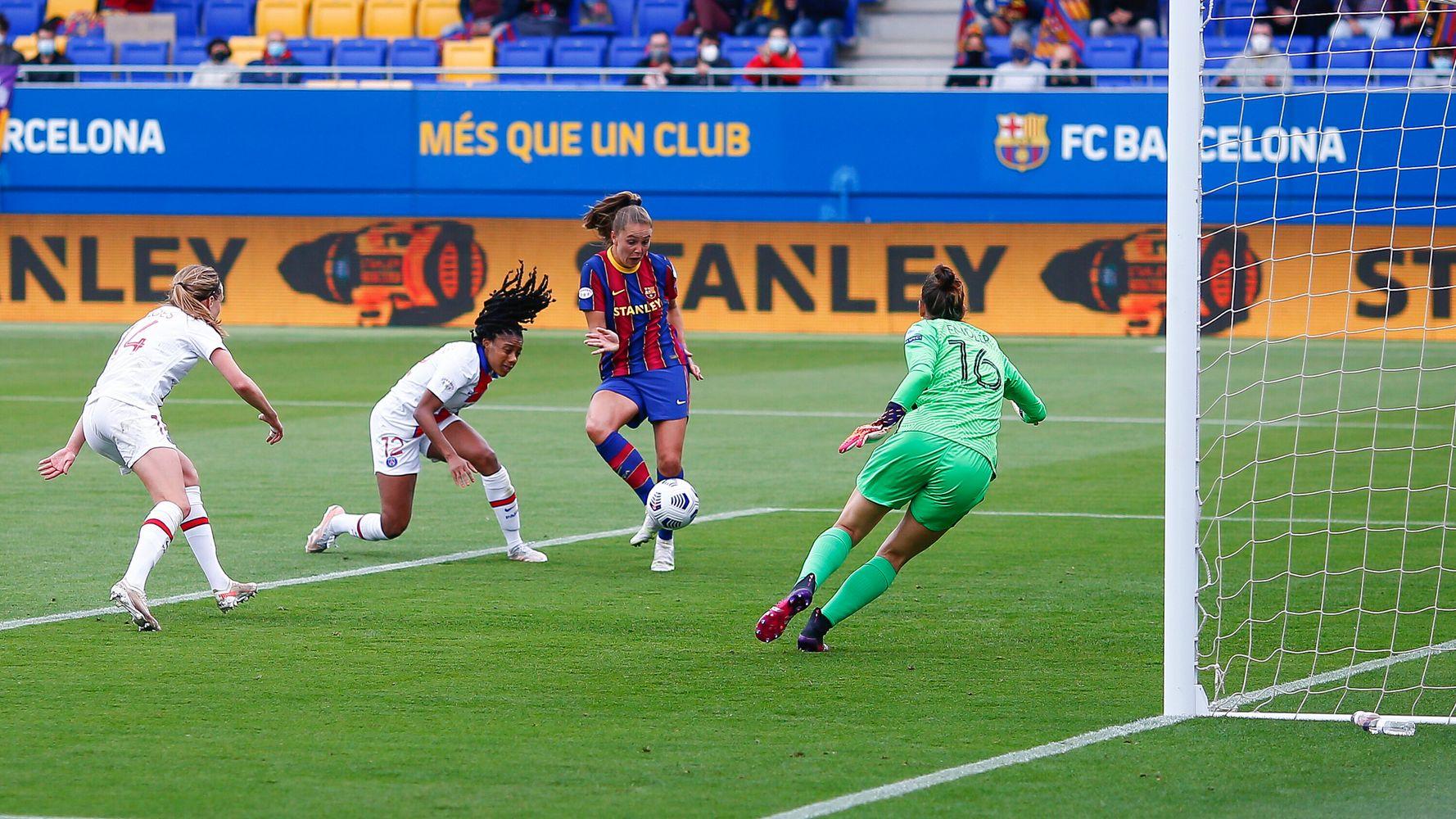 C1 dames: le Paris Saint-Germain éliminé en demi-finale face à Barcelone