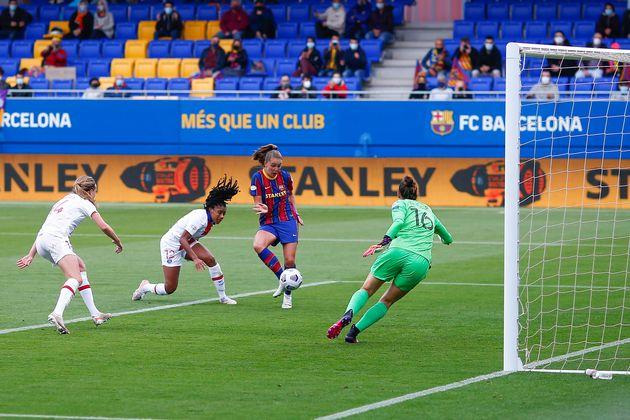 C1 dames: les Parisiennes éliminées en demi-finale face à Barcelone (Photo: Lieke...