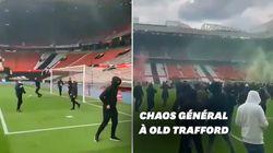 Les supporters de Manchester United envahissent le stade d'Old