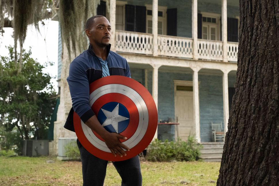 "Falcon/Sam Wilson (Anthony Mackie) in Marvel Studios' ""The Falcon and the Winter Soldier."""