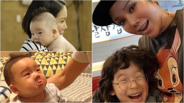 김송과 아들 강선