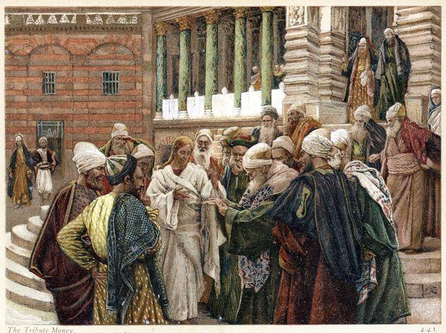 Όταν ρώτησαν τον Χριστό αν θα πρέπει να πληρώνουν τους φόρους στον Καίσαρα, εκείνος ζήτησε να δει ένα δηνάριο και βλέποντας την εικόνα που απεικονιζόταν προέτρεψε «Απόδοτε τα του Καίσαρος τω Καίσαρι και τα του Θεού τω Θεώ».