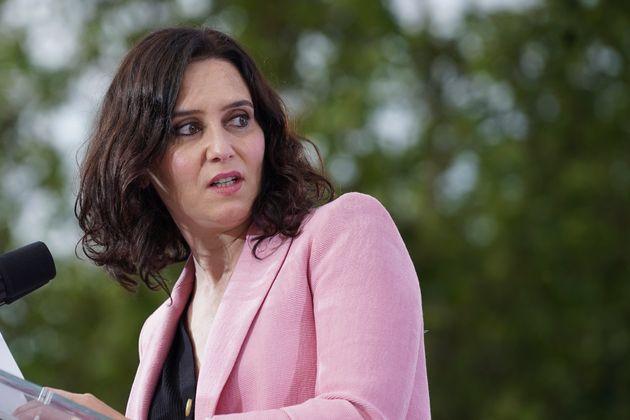 Isabel Díaz Ayuso, en un acto de