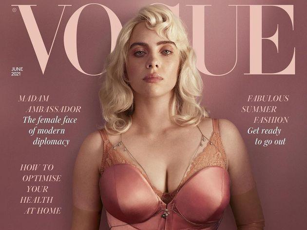 Billie Eilish en la portada de la edición británica de