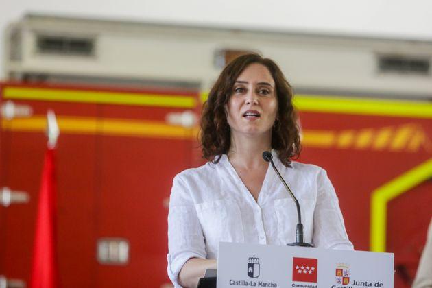 La presidente uscente della Comunità di Madrid, Isabel Díaz