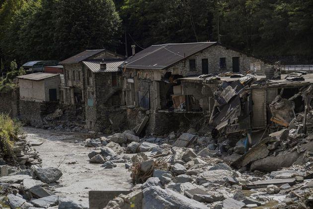 Les ravages de la tempête Alex à Tende, le 7 octobre