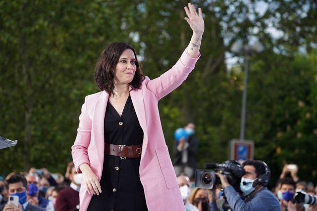 La presidenta de la Comunidad de Madrid y candidata a la reelección, Isabel Díaz Ayuso,...