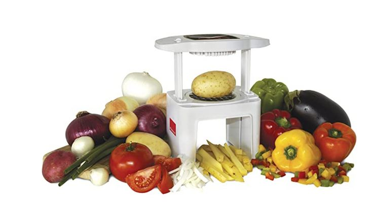 """<strong><a href=""""https://amzn.to/3nH6Lax"""" target=""""_blank"""" rel=""""noopener noreferrer"""">Get the Ronco Veg-O-Matic Food Chopper for $35.91.</a></strong>"""