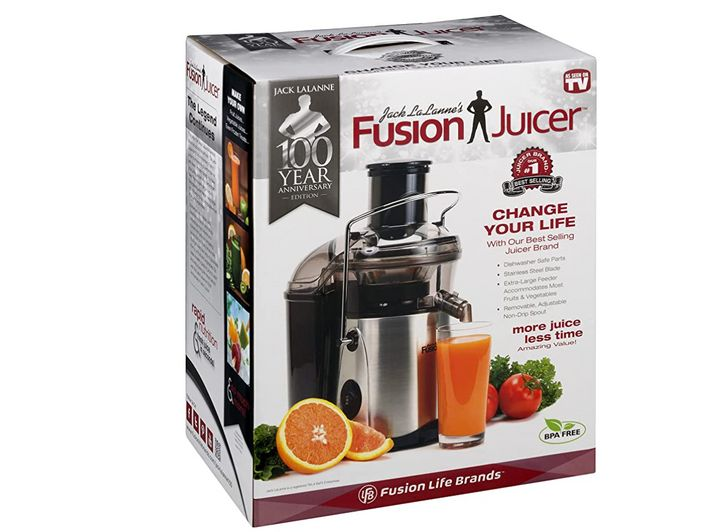 """<strong><a href=""""https://amzn.to/3uefN12"""" target=""""_blank"""" rel=""""noopener noreferrer"""">Get the Jack LaLanne Fusion Juicer for $58.50.</a></strong>"""